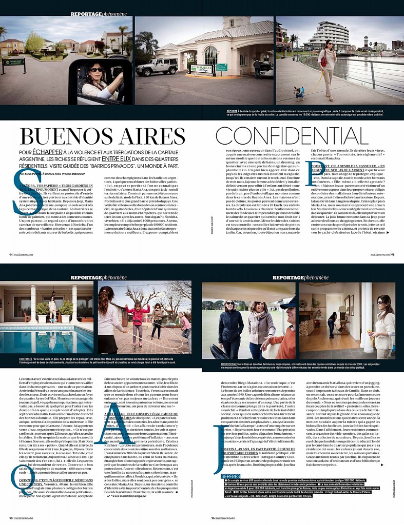 Madame Figaro femmes riches Buenos Aires